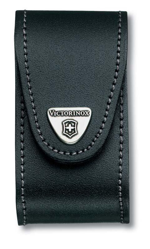 Чехол Victorinox 4.0521.31 black (91мм, пов. клип, 5-8 уровней, кожа)