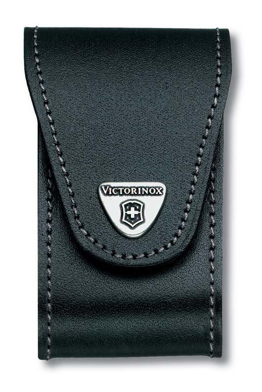 Чехол Victorinox 4.0521.32 black (91 мм, бок. отд., 5-8 уровней, кожа)